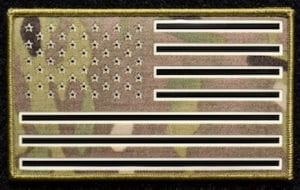 US Flag IR patch, Fusion, Covert and non-covert films, IFF protection