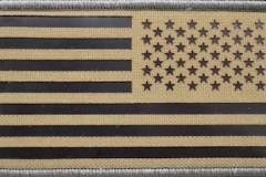 US Flag reverse, Coyote, IR FIeld