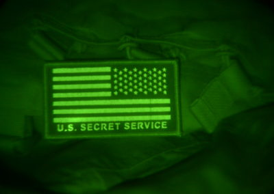Secret Service IR glow patch as seen with night vision device