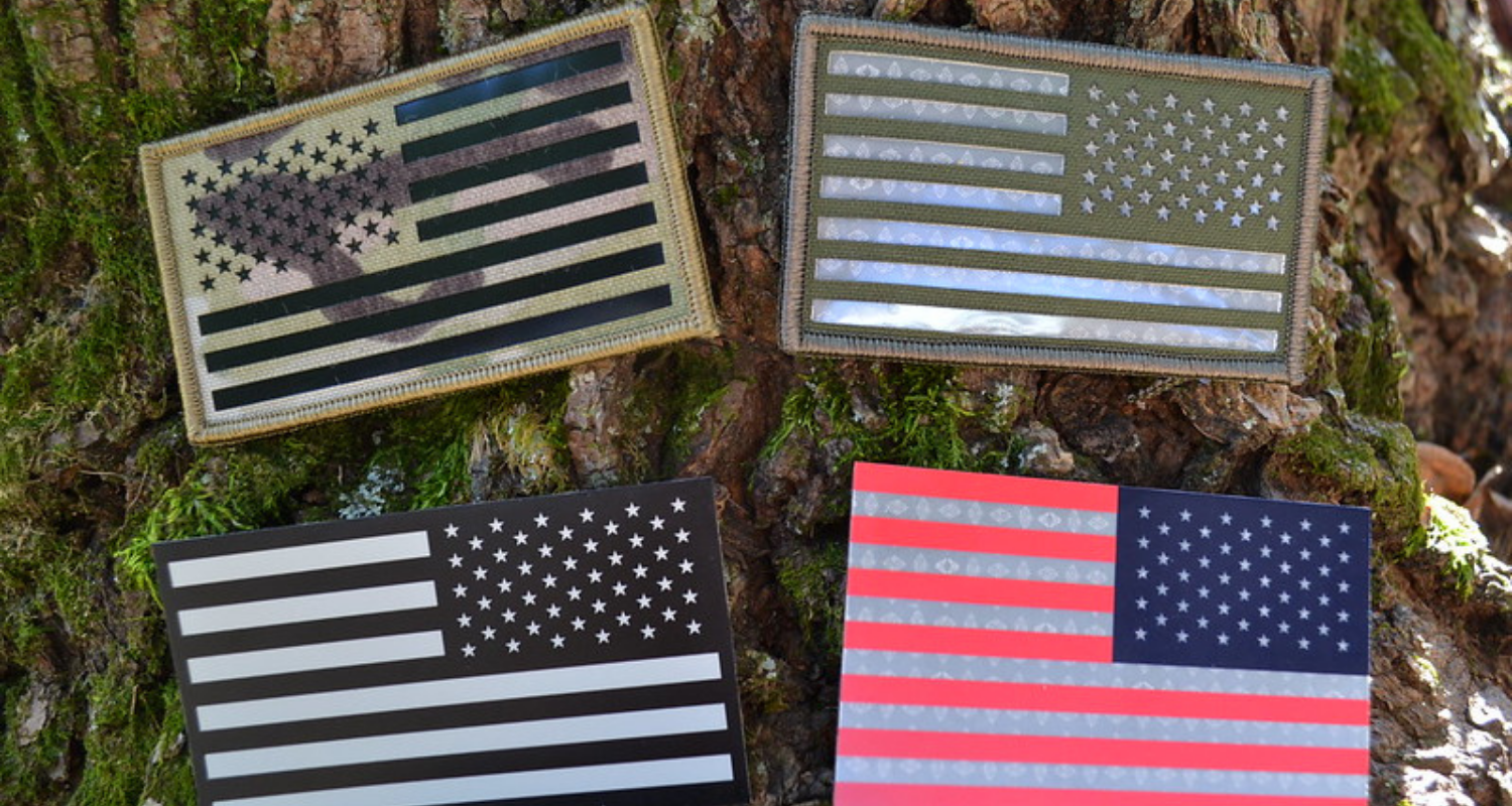 IFF IR Reflective US Flag patches